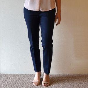 Navy Slim Cropped Dress Pants